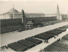 D. Tchernov/A.Batanov/E. Ymhoba/D. Tchernov - Moscow, May 1st, 1948 Place Rouge, Soviet Army, May 1, Louvre, Travel, Moscow, Viajes, Destinations, Traveling