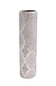 CERAMIC PAISLEY EMBOSSED CYLINDER VASE Cylinder Vase, Paisley, Ceramics, Spring, Home Decor, Ceramica, Pottery, Decoration Home, Room Decor