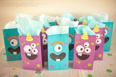 DIY Monster Themed First Birthday Party - favors First Birthday Cupcakes, Baby First Birthday, First Birthday Parties, Birthday Party Themes, First Birthdays, Kid Parties, Birthday Ideas, Little Monster Party, Monster Birthday Parties