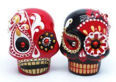 Skull Wedding Cake Toppers: Skull Lover Wedding Cake Topper 0007