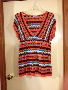 Ladies Fashion Shirt Size L Wet Paint #WetPaint #KnitTop