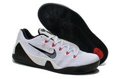 Kobe 9 EM Low White Black Pure Platinum Kobe Sneakers a455886a03a8