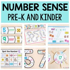 These printable number sense activities are hands-on and engaging. They are perfect for math centers and guided math lessons. In an effort to save you time, each activity requires very little set up and a limited number of supplies.My hope is that this will save you lots of time while engaging the k... Number Sense Activities, Fun Math Games, Number Games, Math Activities, Preschool Math, Teaching Math, Kindergarten, Number Bonds, Preschool Printables