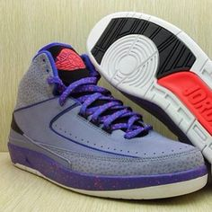 Air Jordan 2 Grey/Purple-Red
