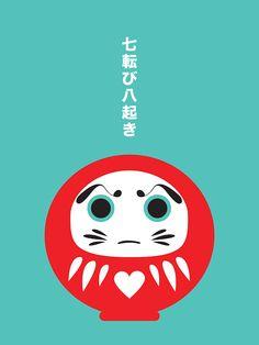 Japanese Daruma Pop Art Print — PICA Things We Love