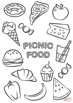 Different Food Coloring Pages  New For Preschoolers