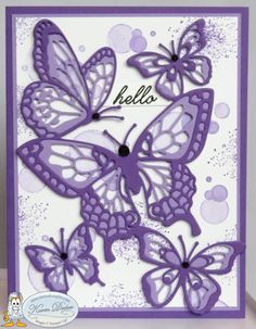 Hello Stamping Friends, I have some fun cards today using the Butterfly Beauty Thinlits and the Beauty Abounds Stamp Set. These two sets carry into the new catalog but if you get them now you will… Butterfly Cards Handmade, Butterfly Crafts, Tarjetas Stampin Up, Bee Cards, Wink Of Stella, Beautiful Handmade Cards, Stamping Up Cards, Mothers Day Cards, Cards For Friends