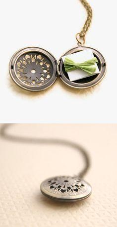 Love note locket, It's kind of fabulously sweet. :)
