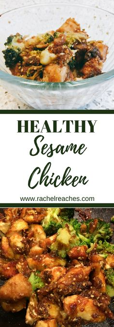 Easy sesame chicken recipe that satisfies your Chinese food craving and helps you stick to your health goals at the same time!
