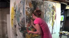 "Abstract Art Painting Demo - Original by Shari Kreller - ""The Secret"""