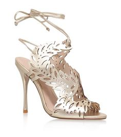 c6a72bb0ee8a KG Kurt Geiger Horatio Cut-Out Sandal Gold available to buy at Harrods. Shop