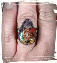 7 Chakra orgone ring by Fairywire on Etsy
