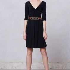 Anthropologie Lolly Little Black Dress
