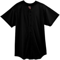58279e1b2af Augusta Sportswear Youth Mesh Button Front Short Sleeve Baseball Shirt. 439  Description 70-denier