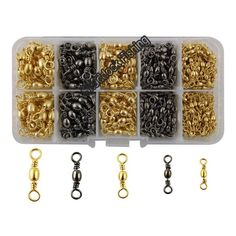 WSB Tackle Barrel Swivels Various Sizes Pack of 10 Sea Fishing Coarse and More