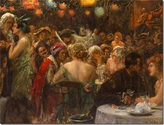View The costume ball by Max Friedrich Rabes on artnet. Browse upcoming and past auction lots by Max Friedrich Rabes. Oil Painting Gallery, Painting Frames, Blog Pictures, Pictures To Paint, Eve Costume, Costumes, Oil Painting Reproductions, Painting Videos, Art Google