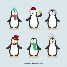 More than a million free vectors, PSD, photos and free icons. Exclusive freebies and all graphic resources that you need for your projects Pinguin Illustration, Scrapbooking Diy, Penguin Cartoon, How To Make Decorations, Christmas Illustration, Christmas Art, Christmas Ornament, Clear Stamps, Adobe Illustrator