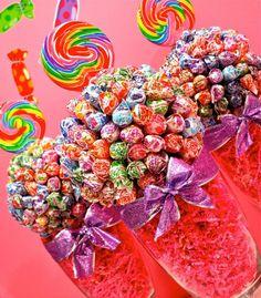 Dum Lollipop Sucker Candy Land Centerpiece Vase Buffet Decor Arrangement Wedding Mitzvah Party Favor Creation