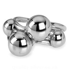Tianguis Jackson Silver Four Beaded Ring