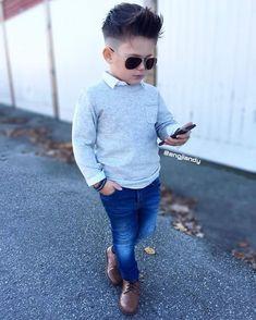 Children and Young Baby Boy Dress, Baby Boy Swag, Baby Boys, Toddler Boy Fashion, Little Boy Fashion, Toddler Boy Outfits, Outfits Niños, Kids Outfits, Stylish Little Boys