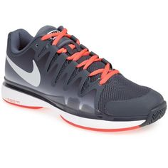 $135.00 Nike 'Zoom Vapor 9.5 Tour' Tennis Shoe (Women) Black/ Dark Magnet/ Mango 10 M Tennis Shoes Outfit, Tennis Clothes, Air Max Sneakers, Sneakers Nike, Court Shoes, Nike Zoom, Nike Free, Nike Air Max, Mango