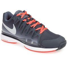 $135.00 Nike 'Zoom Vapor 9.5 Tour' Tennis Shoe (Women) Black/ Dark Magnet/ Mango 10 M Air Max Sneakers, Sneakers Nike, Tennis Clothes, Court Shoes, Nike Zoom, Nike Free, Nike Air Max, Black Dark, Mango