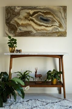 RESERVED for NN   Bronze Agate, an original, ready-to-ship, abstract painting on wood