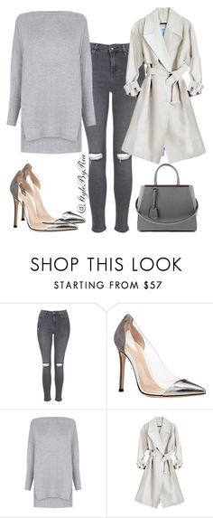 """""""Untitled #173"""" by stylebyria ❤ liked on Polyvore featuring Topshop, Gianvito Rossi, Warehouse and Fendi"""