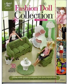 Fashion Doll Collection Book Three Crochet Pattern Annies Attic 878549