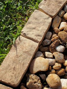 Choose Edging Type: Individual Stones in From Built-Ins to Willow Weave, Know Your Garden Furniture Style from HGTV