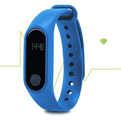 LiKee Fitness Tracker Sleep Monitor Steps Counter Activity Tracker Smart BraceletBlue -- You can find more details by visiting the image link.