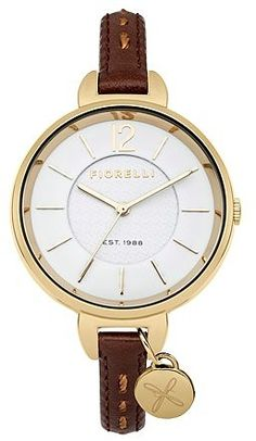 2d5b0be64 awesome Fiorelli Ladies white leather strap watch
