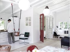 baby swing near the kitchen area? genius