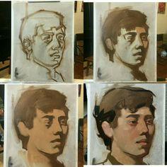 Академическая живопись. Портрет. Поэтапно. Масло. Digital Painting Tutorials, Art Tutorials, Painting Process, Figure Painting, Portrait Art, Portraits, Comic Manga, Art Drawings, Fine Art