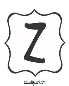 White and Black Letter_Z