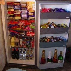 This will be my Fridge at college. My cabinets will be full of Raman and bottled water