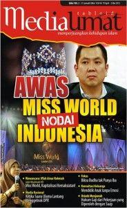 Seperti yang dilangsir  www.jpnn.com ( 2/9) kabar penolakan pegelaran Miss World 2013 di Indonesia terus meluas. Tak hanya media di Indonesia, tapi juga media asing di Asia, Amerika, hingga Eropa juga memberitakan penolakan tersebut. Penolakan ini semakin menguat menyusul adanya fatwa Majelis Ulama Indonesia (MUI) yang menyatakan telah menolak keras pagelaran kontes kecantikan se-jagad tersebut.