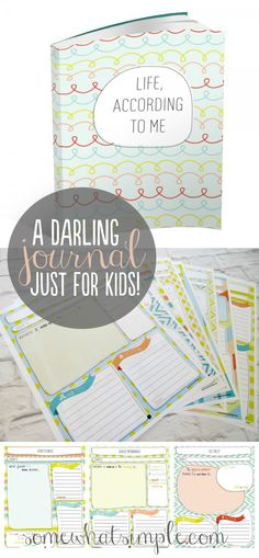 Journaling with kids - A GREAT New Year's Resolution! Fun Ideas and printable journal on SomewhatSimple.com