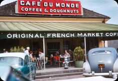 This is just one of those posts that started with a single photograph which gave me such nostalgia for an era I've never actually lived through, that I proceeded to compile my own imaginary photo album of the perfect 1950s vacation– all shot in 35mm kodachrome of course. It was this tiny vacation co                             Cafe Du Monde, New Orleans – 1958