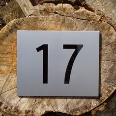 This beautiful and unique house number plaque is inspired by a font similar to that used by the Scottish designer Charles Rennie Mackintosh.