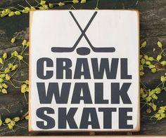 Crawl Walk Skate, Hockey Schild, Hockey Geschenk, Hockey Nursey, H … - Babygeschenk