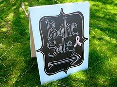 another clever idea using chalkboard paint: re-use for yard sales, bake sales, what ever...