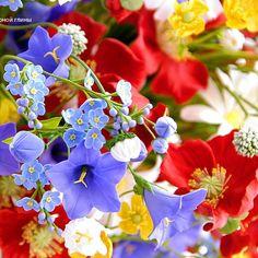Фрагмент большого букета полевых цветов. Ручная работа из глины.  ❤️ #керамическаяфлористика #цветы #букет #флористика #полевыецветы #фото #фотография #ручнаяработа #vkpost #mysolutionforlife #handmade #flowers #coldporcelain #bouquet