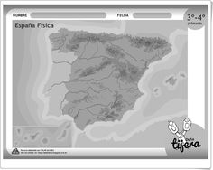 """""""España Física"""" (Fichas recortables de Ciencias Sociales de Primaria) Album, World, Socialism, Science Area, Teaching Resources, Social Science, Note Cards, Classroom, Peace"""