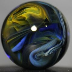 Dusty Gamble #1497 | Handmade Lampwork Glass Marble | Thought Waves