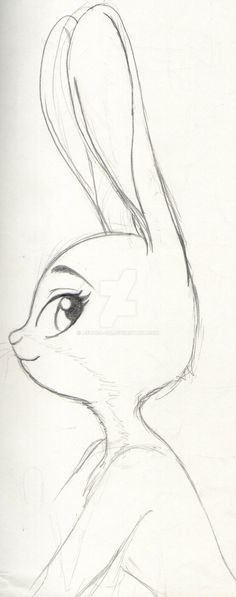 """""""cloudyloudy:"""" Judy By: Ashura-ou """"Beautiful indeed . - : """"cloudyloudy:"""" Judy By: Ashura-ou """"Beautiful indeed . Disney Drawings Sketches, Girl Drawing Sketches, Art Drawings Sketches Simple, Pencil Art Drawings, Doodle Drawings, Sketch Art, Cute Drawings, Drawing Disney, Drawing Ideas"""