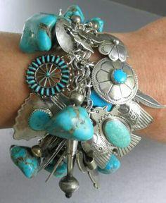 Navajo Zuni Hope charm bracelet