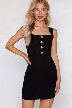 Nasty Gal Button the Prowl Mini Dress Short Outfits 883d4464d