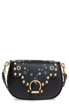MARC JACOBS Studded Navigator Leather Crossbody Bag available at #Nordstrom