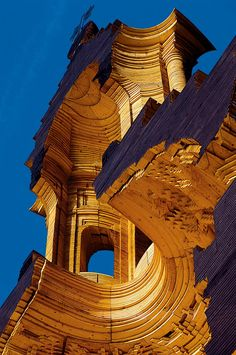 "archatlas: ""  Wooden Model of Borromini's Church of San Carlo alle Quattro Fontane in Rome Mario Botta """